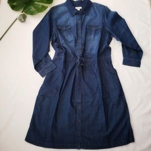 NWT • cj banks Denim L/S Dress • sz 24W